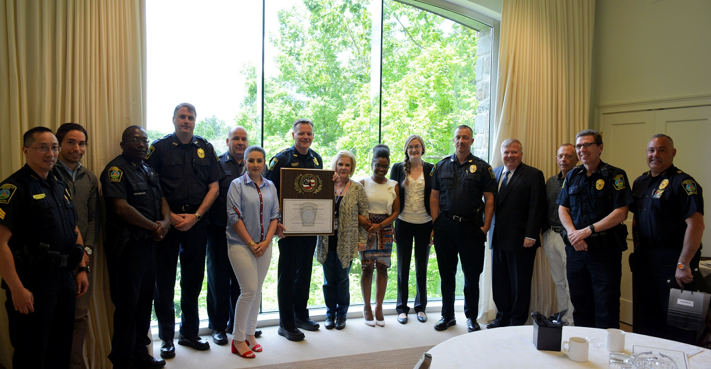 SOMERVILLE POLICE ACCREDITATION CEREMONY